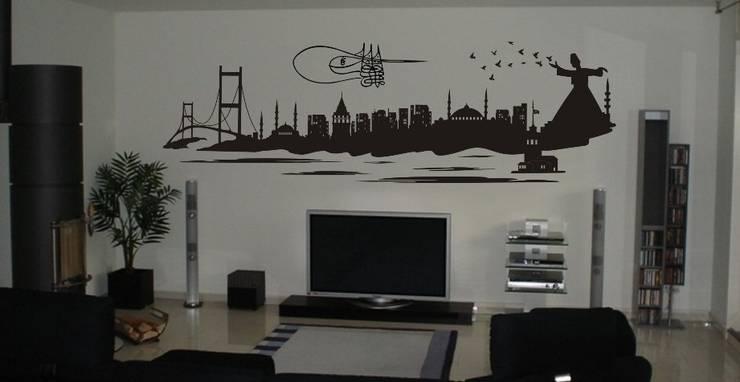 trend duvar sticker – İstanbul Duvar Sticker:  tarz Ev İçi