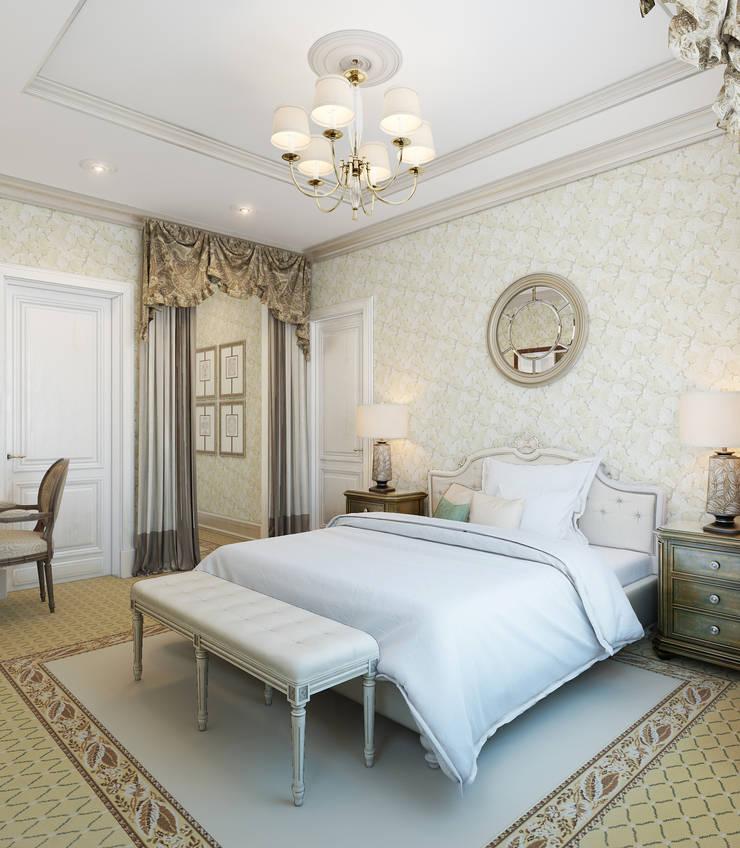 Спальная комната: Спальни в . Автор – Студия Искандарова