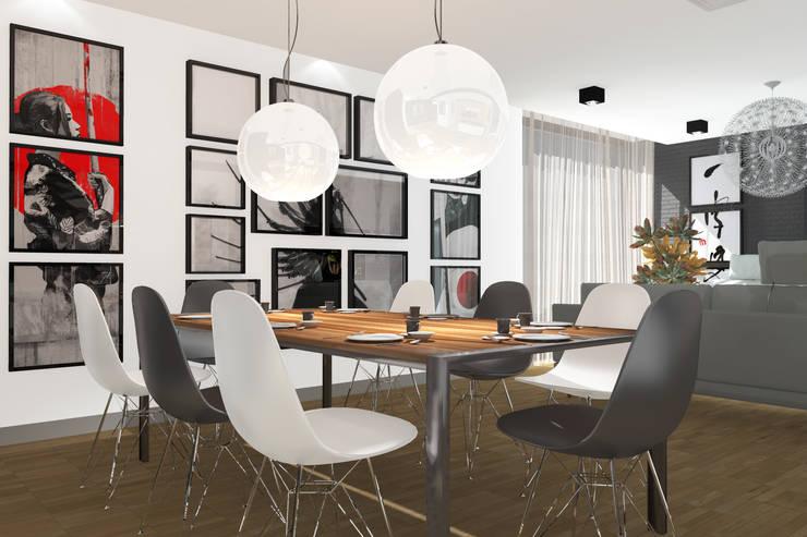 Apartament MR-Jap – <q>CEGIELNIANA</q> Rybnik: styl , w kategorii Jadalnia zaprojektowany przez ABC Pracownia Projektowa Bożena Nosiła