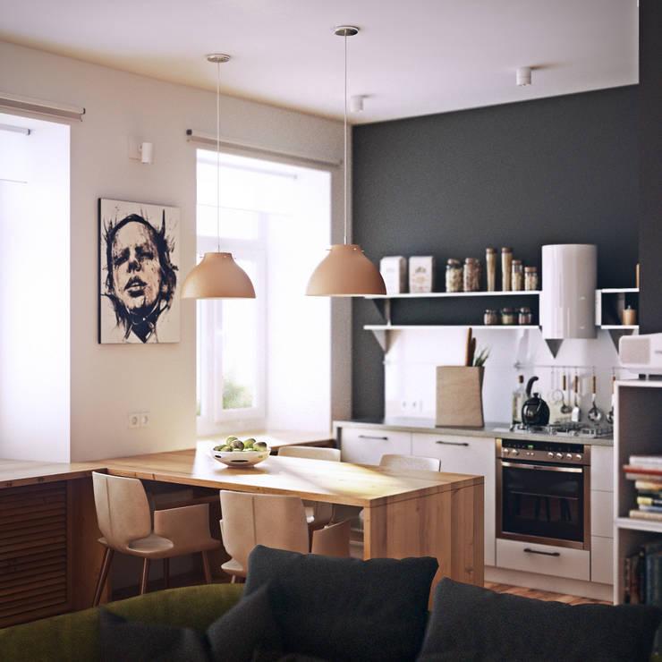 дизайн квартиры 65м2 г. Санкт-Петербур: Кухни в . Автор – sreda