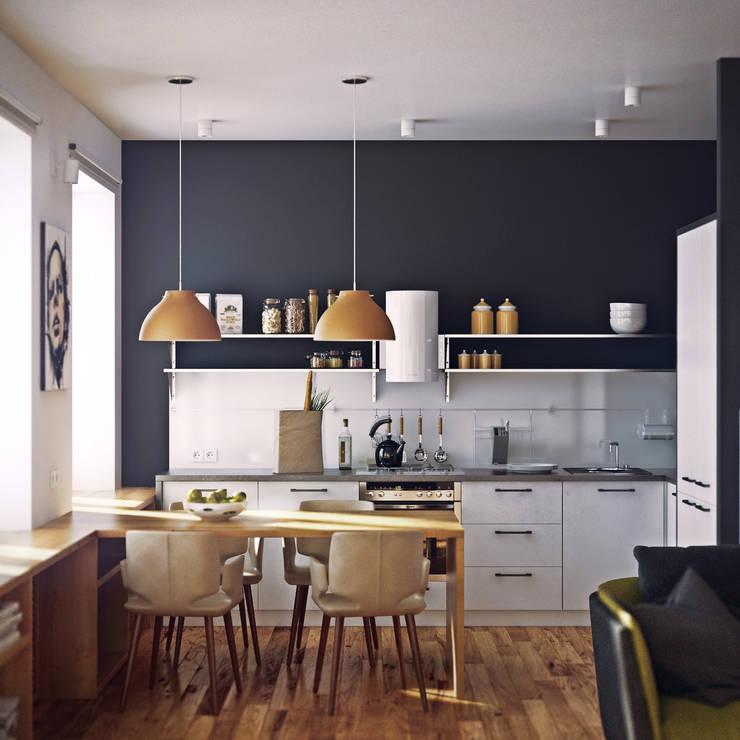 Cocinas de estilo escandinavo por sreda