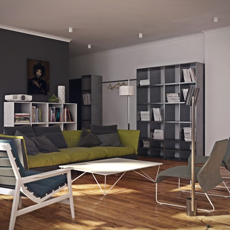 дизайн квартиры 65м2 г. Санкт-Петербур: Гостиная в . Автор – sreda