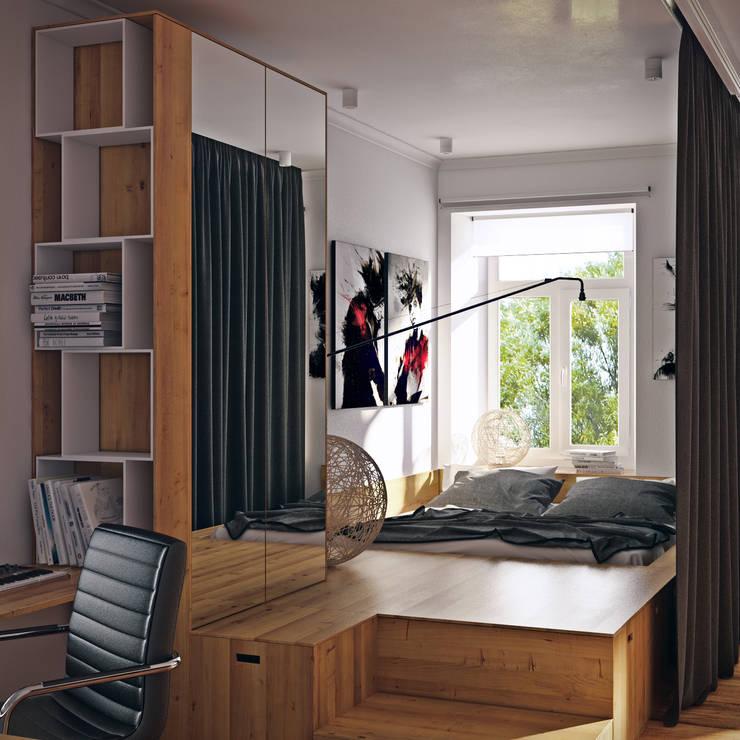 sreda: iskandinav tarz tarz Yatak Odası