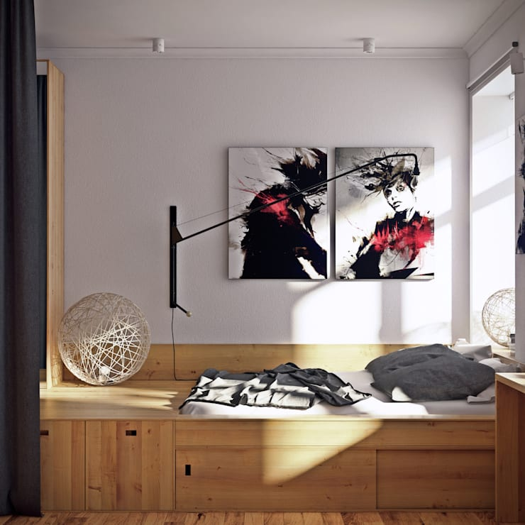 дизайн квартиры 65м2 г. Санкт-Петербур: Спальни в . Автор – sreda