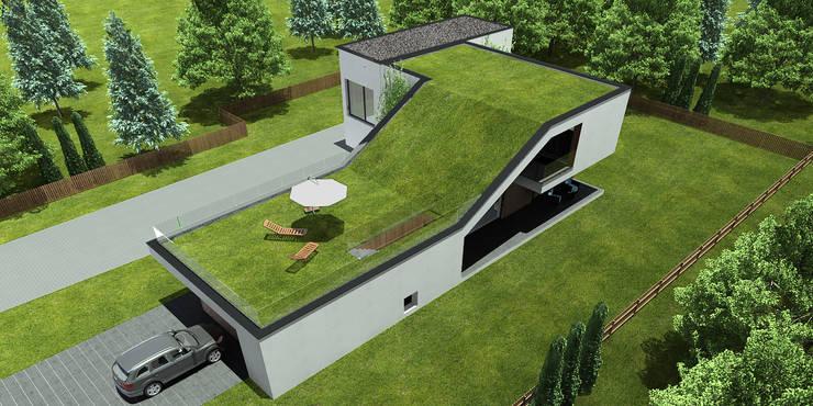 widok z góry: styl nowoczesne, w kategorii Domy zaprojektowany przez D C K