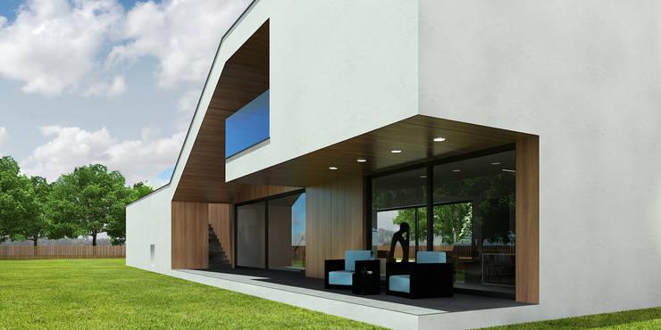 taras: styl nowoczesne, w kategorii Domy zaprojektowany przez D C K
