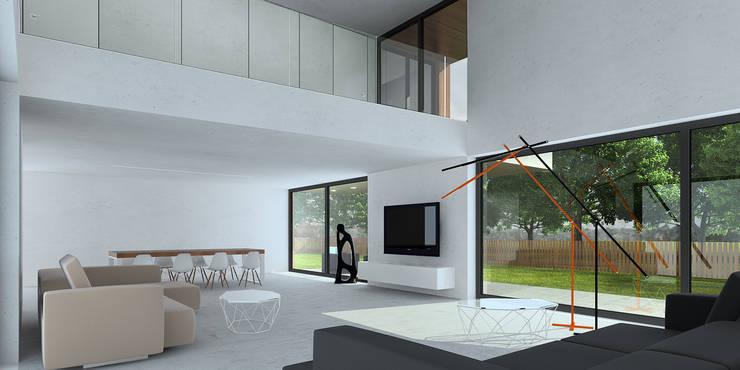 wnętrze: styl , w kategorii Salon zaprojektowany przez D C K