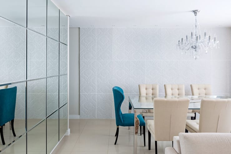 Sala de Jantar: Salas de estar  por Arina Araujo Arquitetura e Interiores