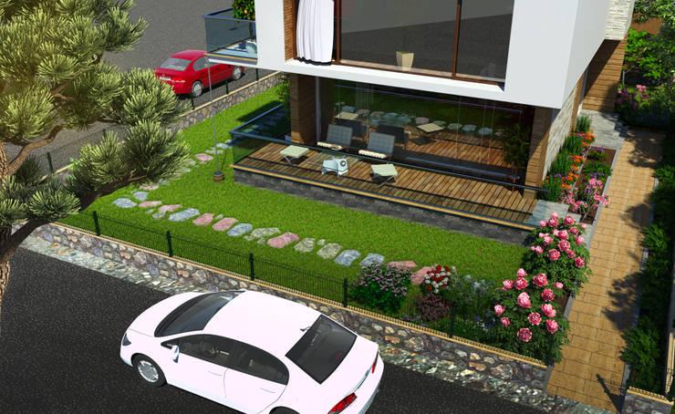 EMG Mimarlik Muhendislik Proje Çanakkale 0 286 222 01 77 – Dardanos Villa:  tarz , Akdeniz