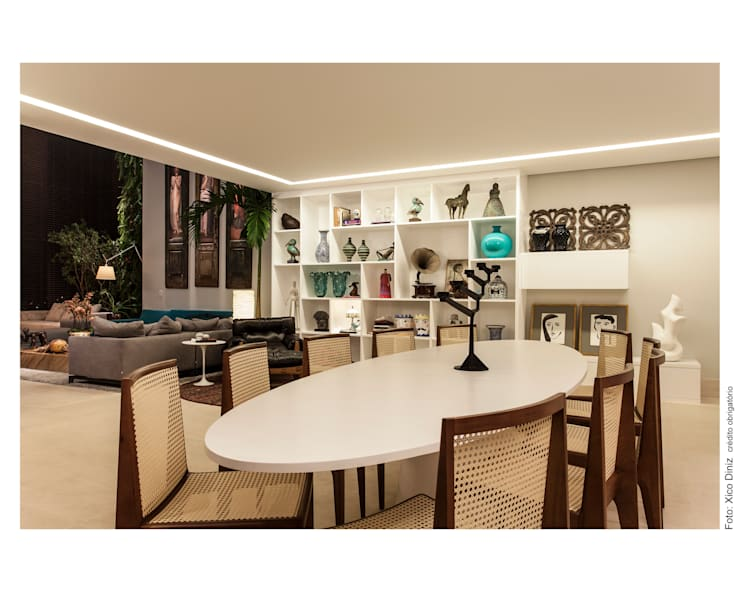 Hall de Entrada / Sala de Jantar: Salas de jantar  por Arquitetura 3