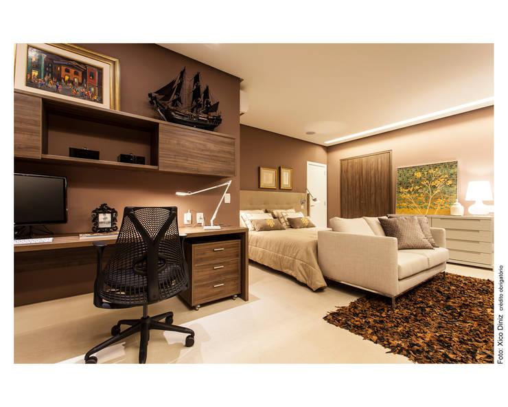 Suite do Casal: Quartos  por Arquitetura 3