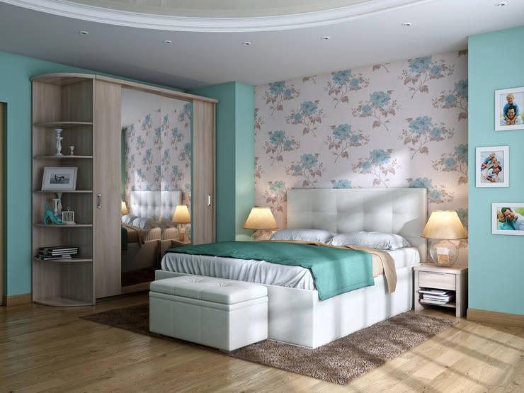 Кровать MARSELA: Спальная комната  в . Автор – ABICS,