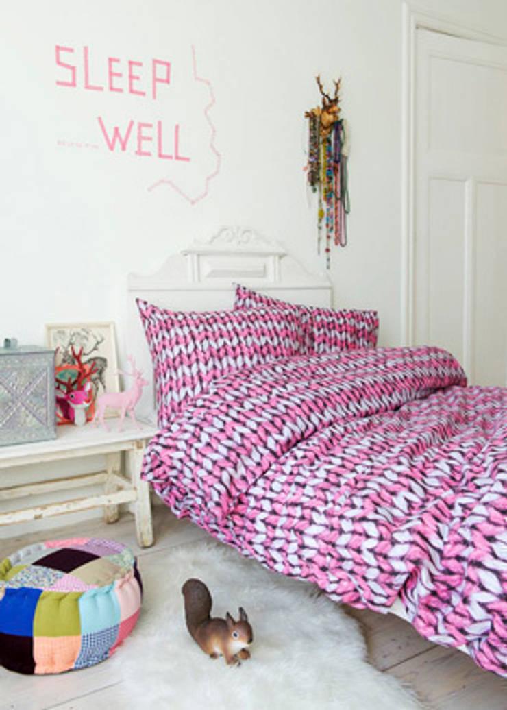 dekbedovertrek Woolly pink:  Kinderkamer door Boefjesfabriek