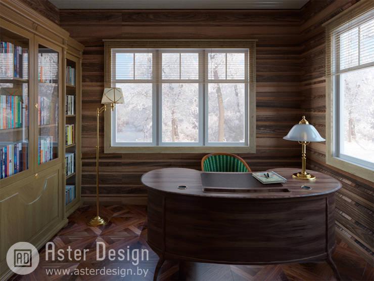 Кабинет для серьезной но романтичной натуры.: Рабочие кабинеты в . Автор – ASTER DECO