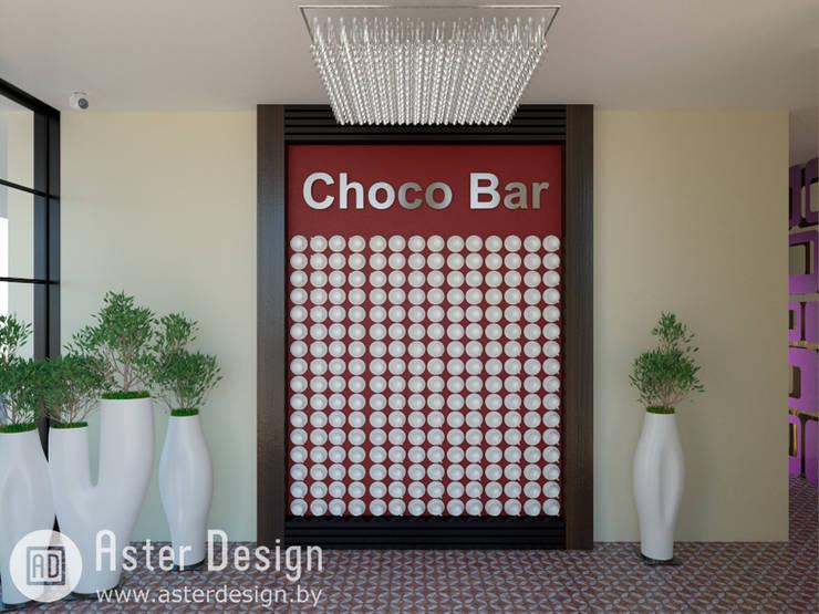 Choco Bar: Прихожая, коридор и лестницы в . Автор – ASTER DECO