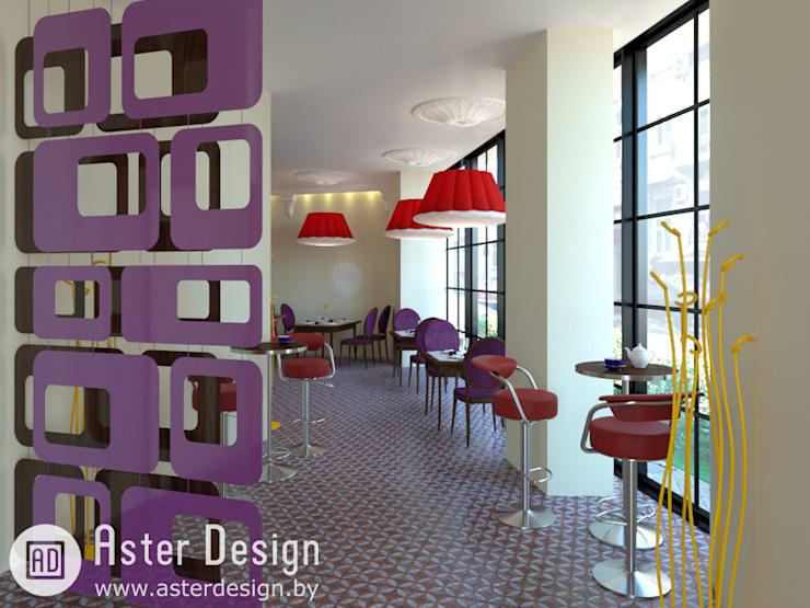 Вход в кафе: Гостиная в . Автор – ASTER DECO