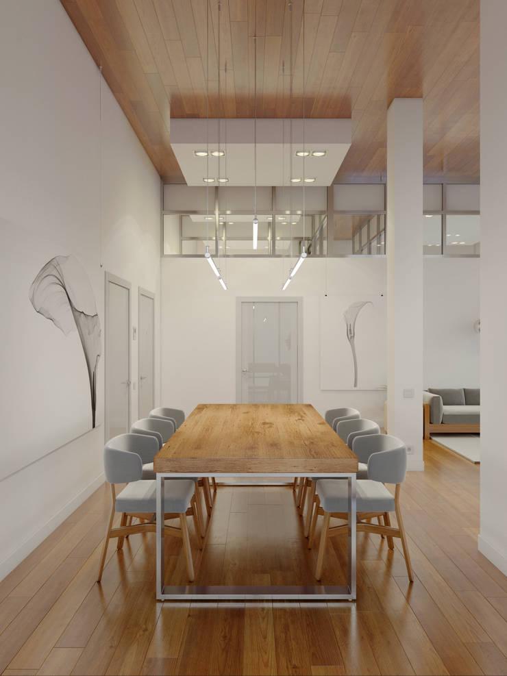 Столовые комнаты в . Автор – Anton Medvedev Interiors,