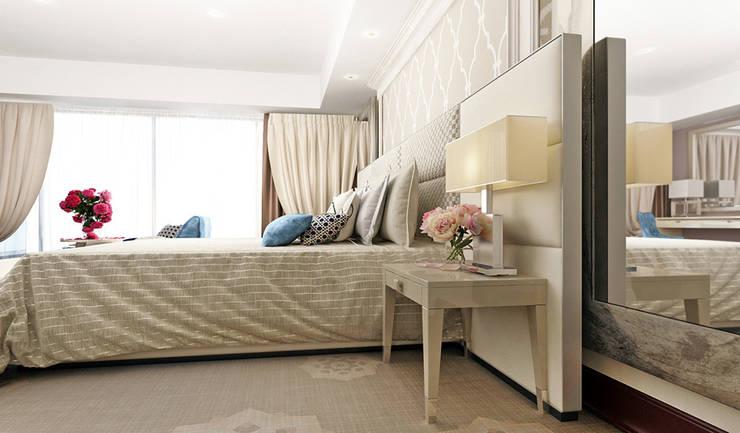 Дизайн аппартаментов отеля в стиле современная классика: Гостиницы в . Автор – Space - студия дизайна интерьера премиум класса