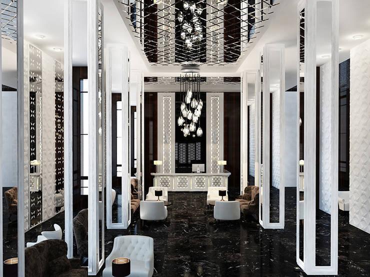 Дизайн отеля в стиле современный ар-деко: Гостиницы в . Автор – Space - студия дизайна интерьера премиум класса