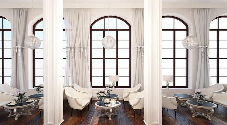 Дизайн ресторана в стиле современная классика: Ресторации в . Автор – Space - студия дизайна интерьера премиум класса,