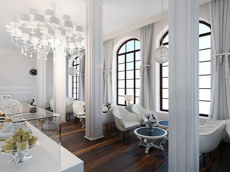 Дизайн ресторана в стиле современная классика: Ресторации в . Автор – Space - студия дизайна интерьера премиум класса