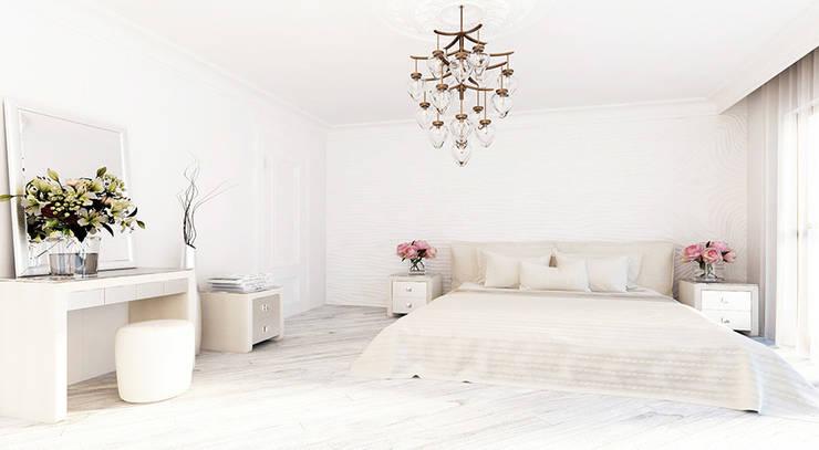Дизайн квартиры в стиле современная классика: Спальни в . Автор – Space - студия дизайна интерьера премиум класса