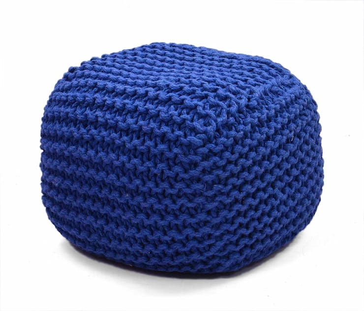 Knitted Poufs:  Living room by Natural Fibres Export