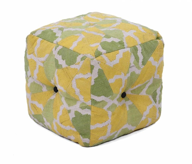 Poufs:  Artwork by Natural Fibres Export