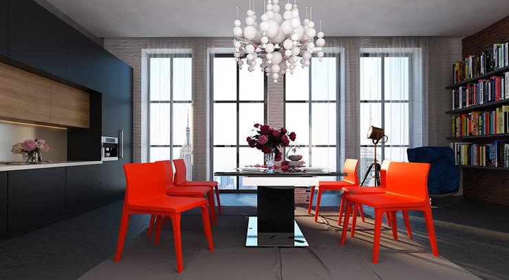 Дизайн квартиры в стиле лофт: Кухни в . Автор – Space - студия дизайна интерьера премиум класса