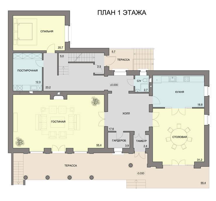 Индивидуальный жилой дом:  в . Автор – Studio Kamil Tsuntaev, Классический