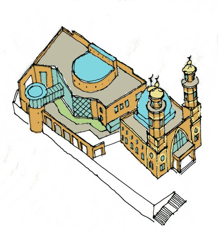 Исламский культурно просветительский центр в г.Владикавказ:  в . Автор – Studio Kamil Tsuntaev