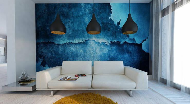 Дизайн загородного дома в стиле минимализм: Рабочие кабинеты в . Автор – Space - студия дизайна интерьера премиум класса
