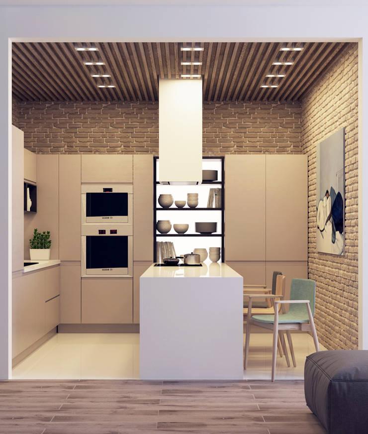 Квартира для молодой пары: Кухни в . Автор – Котова Ольга