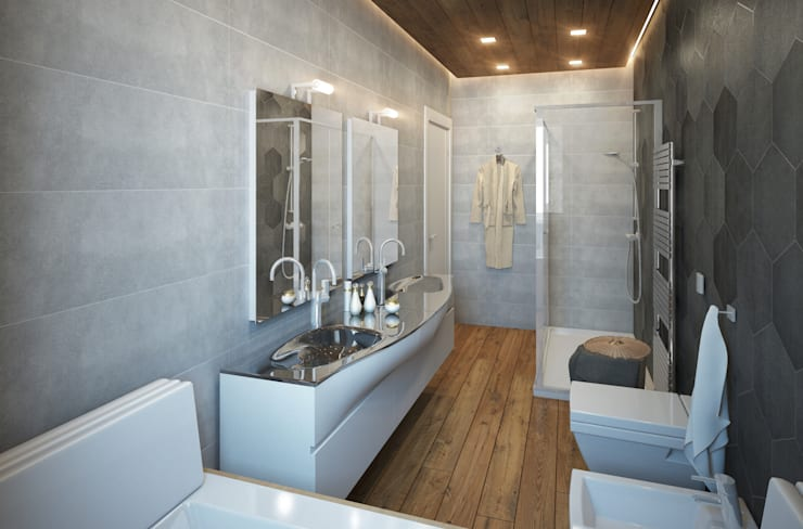 modern Bathroom by Beniamino Faliti Architetto