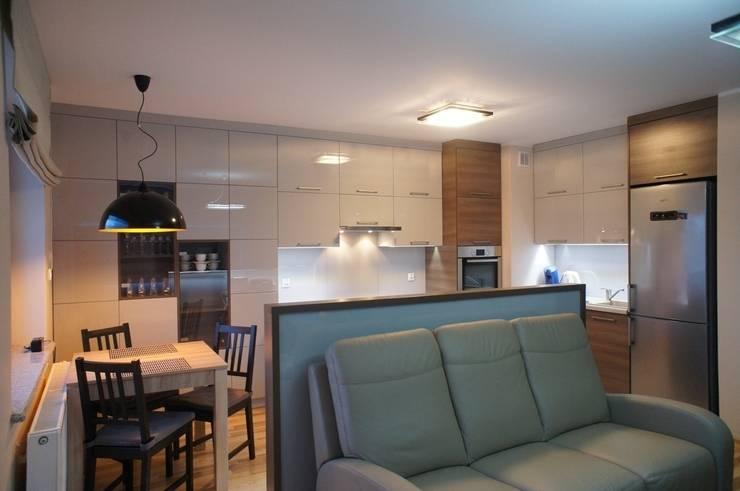 Mieszkanie, Białstok, Wygoda: styl , w kategorii Salon zaprojektowany przez Anna Wrona,