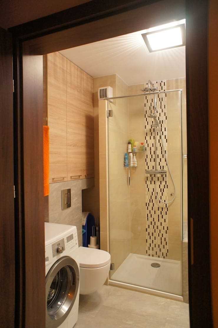 Mieszkanie, Białstok, Wygoda: styl , w kategorii Łazienka zaprojektowany przez Anna Wrona,