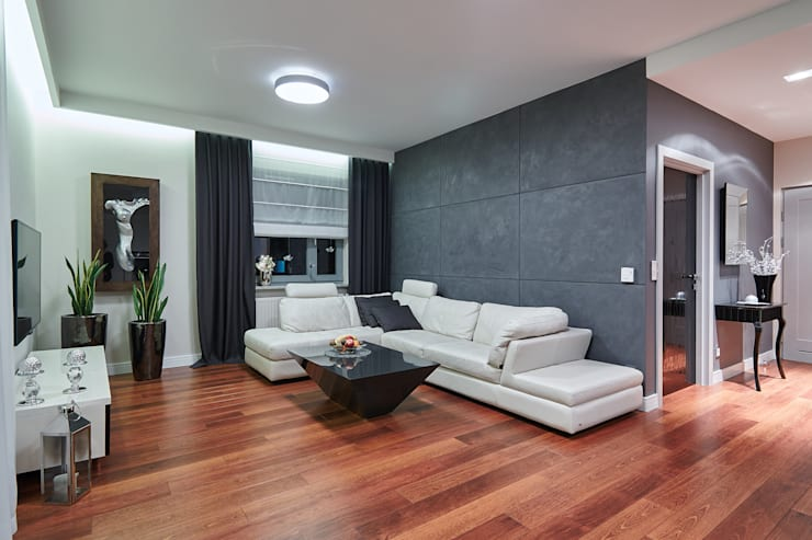modern Living room by ARCHINSIDE STUDIO KATARZYNA PARZYMIES