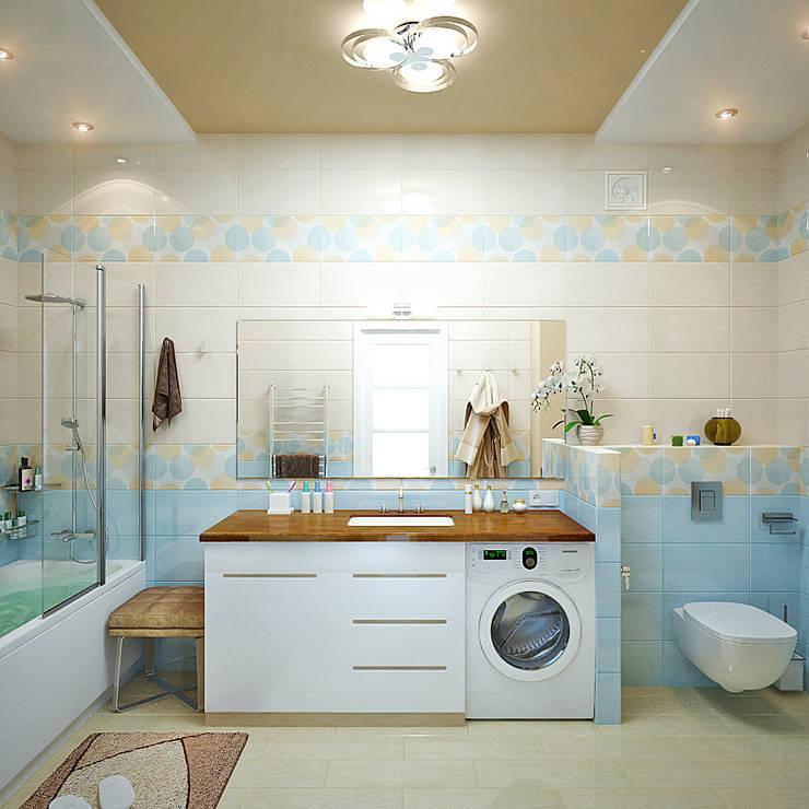 Грамотный интерьер для узкой ванной комнаты: Ванные комнаты в . Автор – Студия дизайна Interior Design IDEAS