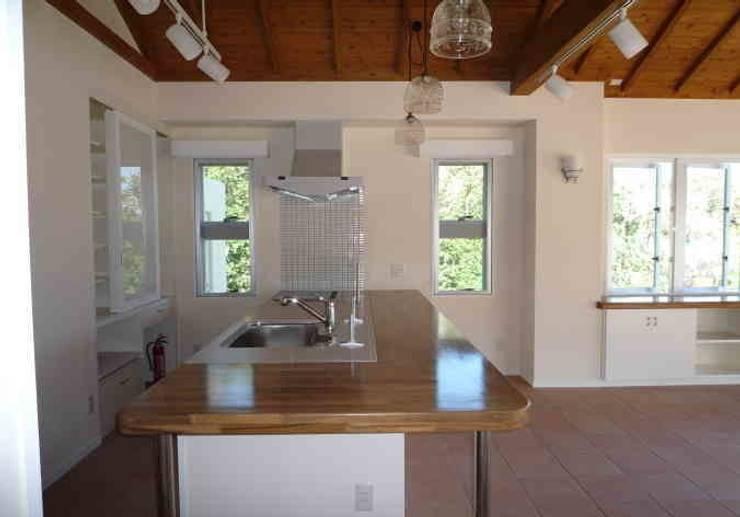 琉球赤瓦の家: 船木建築設計事務所が手掛けたキッチンです。