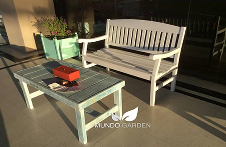 Banco de Jardín / Exterior / Interior, Mundo Garden: Jardines de estilo  por Mundo Garden
