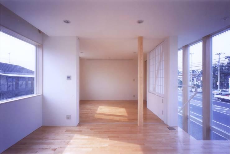 階段の家: 有限会社古里設計一級建築士事務所が手掛けた寝室です。