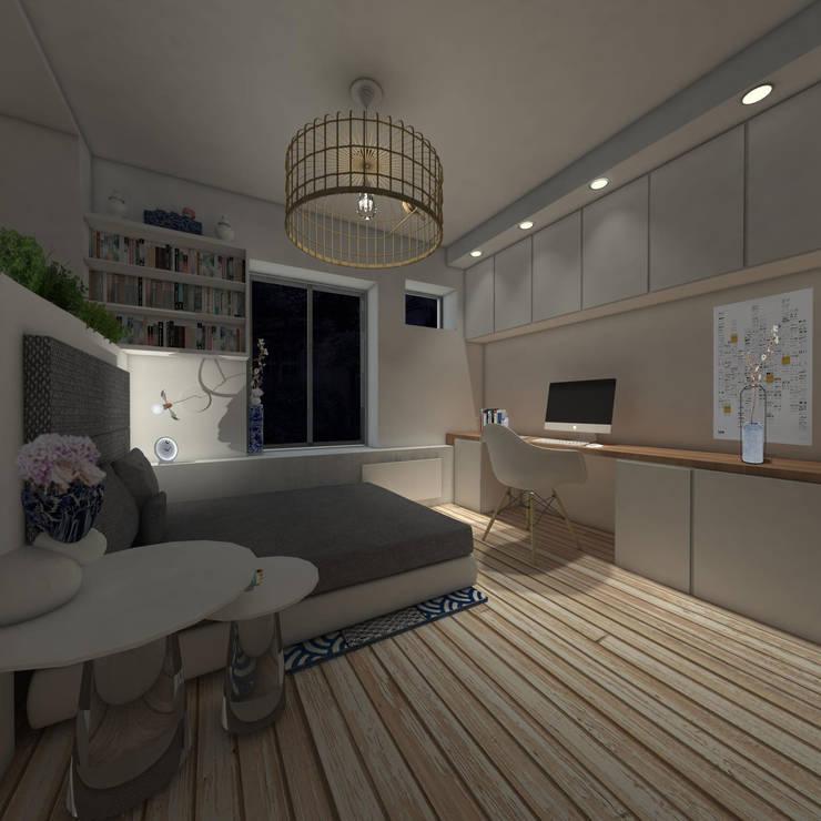 Studio 23m²: Chambre de style  par Aurélia Petitet
