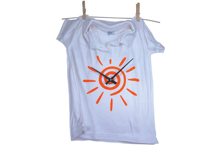 Vago Minds Ltd. – T-shirt Duvar Saati / T Shirt Wall Clock:  tarz İç Dekorasyon