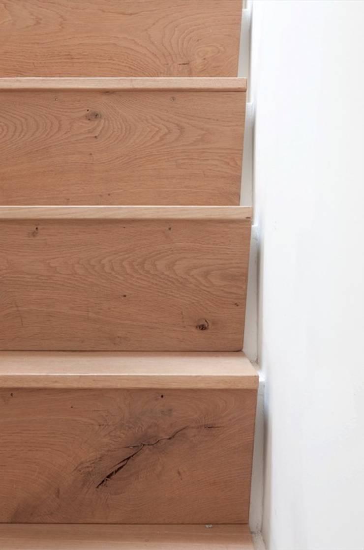 Detail trap:  Gang en hal door ontwerpplek, interieurarchitectuur, Modern