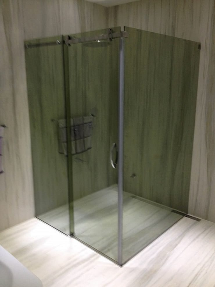ideal duşakabin – Yeşil Reflektecam Klavuz Ray Sistem2 Duş Kabini:  tarz Banyo