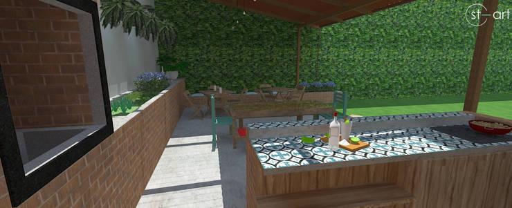Área Gourmet, lazer para a família e amigos.: Cozinhas  por start.arch architettura