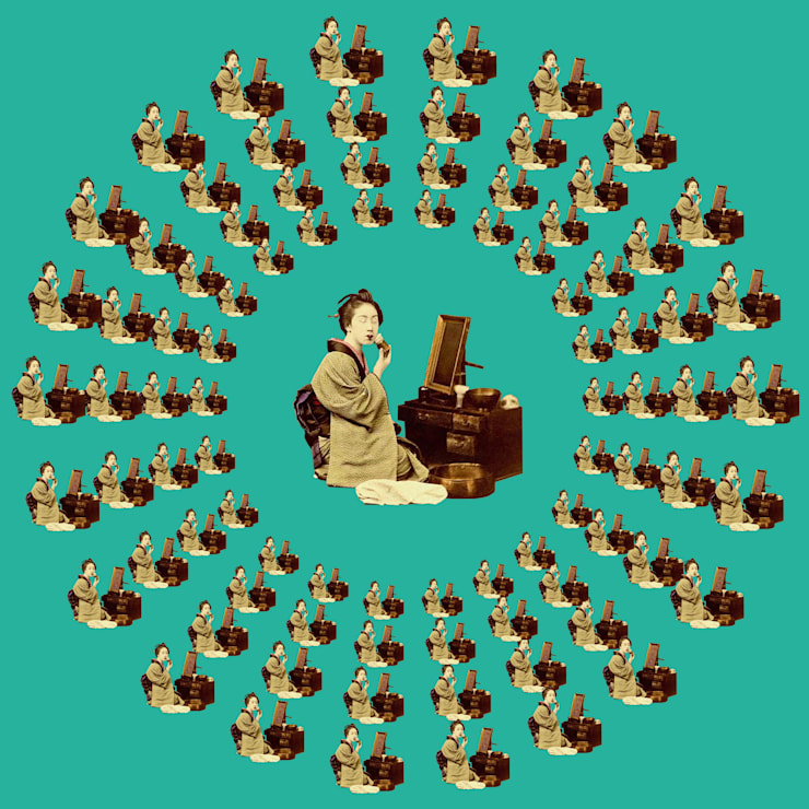 Гейша. Максимальный размер 40х40 см.: Произведения искусства в . Автор – Dariya Dranishnikova