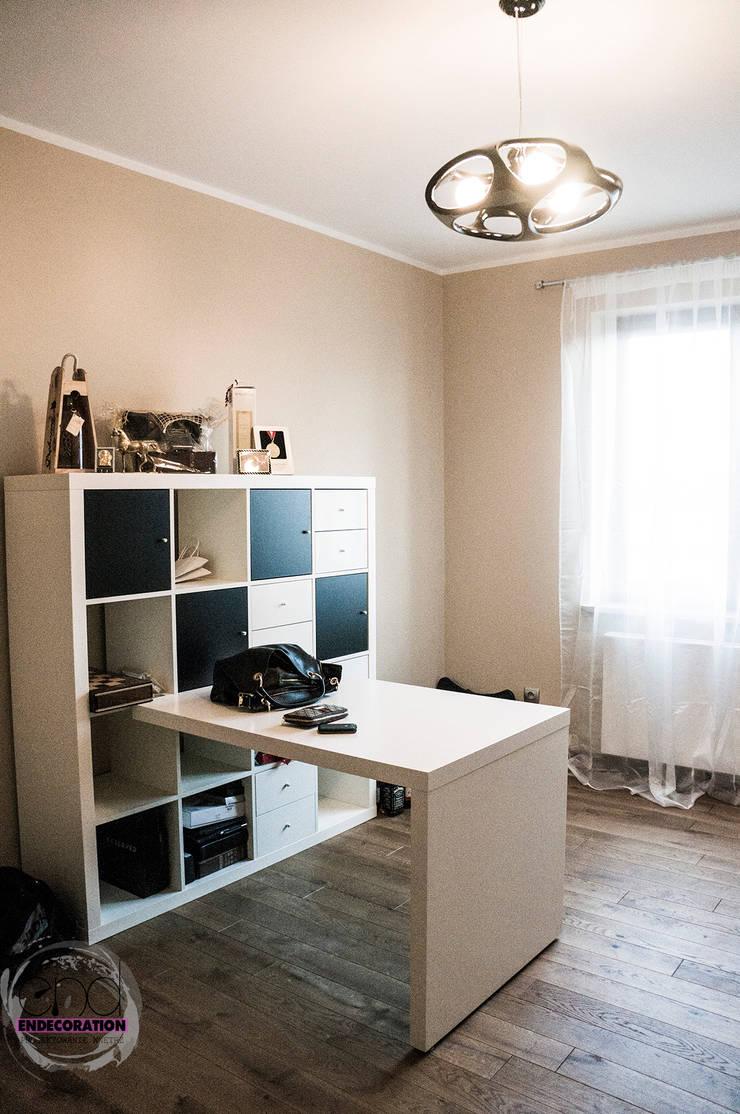 Dom pod Zambrowem : styl , w kategorii Domowe biuro i gabinet zaprojektowany przez EnDecoration,Nowoczesny