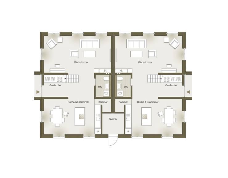Grundriss Erdgeschoss:   von GOLDBODEN