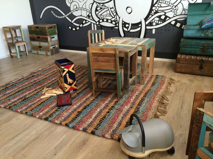 Sloophout kinderset:   door Klein & Stoer, Tropisch